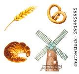 Watercolor Bakery Symbols....
