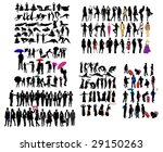 different kind of silhouettes | Shutterstock .eps vector #29150263