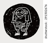 monster doodle | Shutterstock .eps vector #291502676