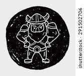 viking doodle | Shutterstock .eps vector #291502706