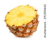 pineapple half isolated... | Shutterstock . vector #291503642