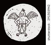 griffin doodle | Shutterstock .eps vector #291503942