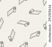 yoga mat doodle seamless... | Shutterstock .eps vector #291505616