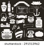 household frames and banners  ... | Shutterstock .eps vector #291513962