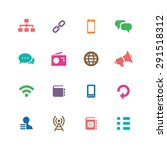 communication icons universal... | Shutterstock .eps vector #291518312
