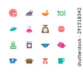 cooking icons universal set for ... | Shutterstock .eps vector #291518342