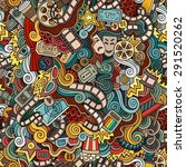 cartoon vector doodles hand... | Shutterstock .eps vector #291520262