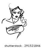 stylish  original hand drawn... | Shutterstock . vector #291521846