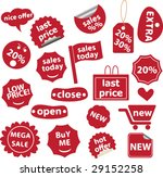 red sales stickers | Shutterstock .eps vector #29152258