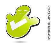 positive save icon | Shutterstock .eps vector #29152414