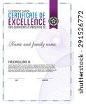 vector design certificate.  | Shutterstock .eps vector #291526772