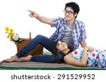 attractive young asian couple... | Shutterstock . vector #291529952