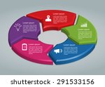 colorful circle arrows with... | Shutterstock .eps vector #291533156
