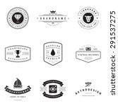 retro logotypes vector set.... | Shutterstock .eps vector #291537275