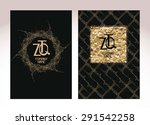 gold textured business cards | Shutterstock .eps vector #291542258