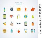 modern flat vector icons of...   Shutterstock .eps vector #291542495