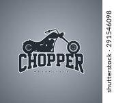 custom chopper motorcycle | Shutterstock .eps vector #291546098