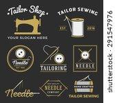 set of vintage tailor shop... | Shutterstock .eps vector #291547976
