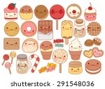 collection of lovely baby sweet ... | Shutterstock .eps vector #291548036