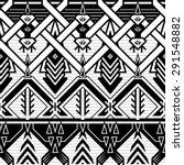 seamless monochrome braids... | Shutterstock .eps vector #291548882