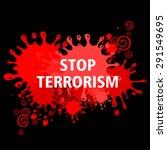 stop terrorism. vector... | Shutterstock .eps vector #291549695