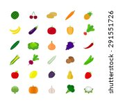 vegetables and fruit icons in... | Shutterstock .eps vector #291551726