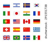 Flags Icons In Flat Style....