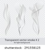 vector set of transparent dark... | Shutterstock .eps vector #291558125
