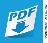 sticker with pdf download icon  ...