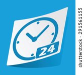 sticker with 24 hours icon ...