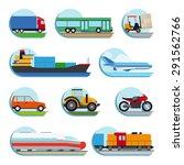 vector transportation flat... | Shutterstock .eps vector #291562766