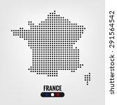 france map dot vector eps10 | Shutterstock .eps vector #291564542