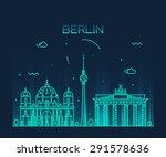 berlin skyline  detailed... | Shutterstock .eps vector #291578636