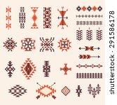 native american navajo aztec... | Shutterstock .eps vector #291586178