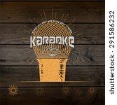 karaoke party badges logos and...   Shutterstock .eps vector #291586232