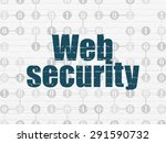 security concept  painted blue... | Shutterstock . vector #291590732