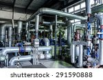 equipment  cables and piping as ... | Shutterstock . vector #291590888