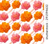 flowers seamless pattern.... | Shutterstock . vector #291594632