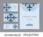 set of business cards ... | Shutterstock .eps vector #291627092