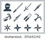 ninja and ninja weapons vector... | Shutterstock .eps vector #291631142