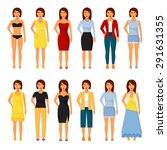 people character set. woman...   Shutterstock .eps vector #291631355