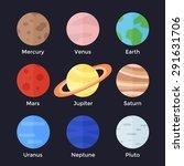 solar system. mercury  venus ... | Shutterstock .eps vector #291631706