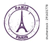 paris stamp | Shutterstock .eps vector #291631778