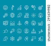 set of thin line people icons... | Shutterstock .eps vector #291634982