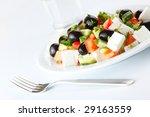greek salad on white background   Shutterstock . vector #29163559