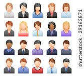 set of icons representing people | Shutterstock .eps vector #29163871