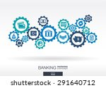 banking mechanism. abstract... | Shutterstock .eps vector #291640712