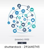 banking network. circles... | Shutterstock .eps vector #291640745