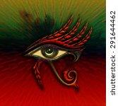 horus eye  falcon god  feathers | Shutterstock . vector #291644462