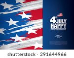 fourth of july. happy... | Shutterstock .eps vector #291644966